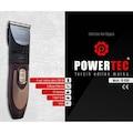 POWERTEC TR-6500 ÇİFT BATARYALI SAÇ, SAKAL, ENSE TIRAŞ MAKİNASI