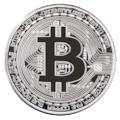 Bitcoin Hatıra Parası Gümüş Kaplama
