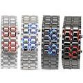 Erkek/Kadın Çelik LED Dijital Kol Saati Kırmızı / Siyah
