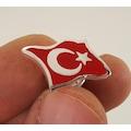 Ayyıldız Türk Bayrağı Gümüş Rozet