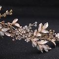 Çiçek Detaylı Vintage Gelin Tacı