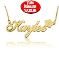 Chavin Gümüş Altın Pırlanta taşlı isminize özel isim Kolye ar48sr