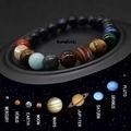 Taqıntı 8 Gezegenler Evren,Yoga,Çakra,Güneş Doğal Taş Bileklik