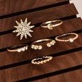 Ay Yıldız 6 Parça Taşlı Yüzük Set
