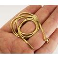 Altın Rengi Snake Kolye Çelik Erkek Kolye Zincir İnce Model