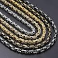 Kral Erkek Çelik Zincir Kolye 5 mm 55 cm 5 Renk ck11