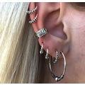 7 Parça Halka Ear Cuff Manşet Küpe - E0263