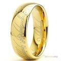 18K Altın K TUNGSTEN Lord Of The Rings Yüzüklerin Efendisi Yüzüğü