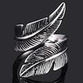 925 Ayar Çift Yaprak Ayarlanabilir Gümüş Yüzük