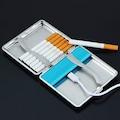 Otomatik Kendinden Çakmaklı Tabaka Sigara Deri Tutun Kutusu