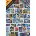 PULKO 100 Çeşit Damgalı Uzay Araştırma Temalı Pul Koleksiyonu