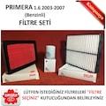 Filtre Seti [NIS011FILTRESET] - Nissan Primera 1.6 03-07 Benzinli