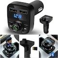 CARX8 Araç Fm Transmitter Bluetooth Usb Mp3 Sd Kart Çakmaklık