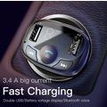 Bluetooth Araç Kiti Mp3 Fm Transmitter Çift Usb Orjinal