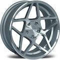 ARCEO-964 8X17 5X105 ET35 CB 56.6 SILVER MACHINED JANT