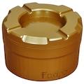 Foxipo Döner Kül Tablası - Altın Rengi Köşeli Model