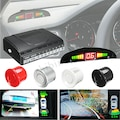 Dijital Ekranlı Araç Ön Arka Park Sensörü Ses İkazlı 8 Sensörlü