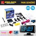 Orijinal Steelmate LCD Ekranlı Türkçe Sesli Arka 4lü Park Sensörü