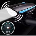 120 desibel, 3 modlu, çakarlı bisiklet elektronik korna / ön far