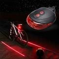 7 Fonksiyonlu Güvenlik Şeritli Bisiklet Lazer Led Stop Lambası