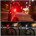 Bisiklet Işığı LED Stop Arka İkaz Işık Lamba USB Şarjlı 4 Mod