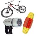 Led Bisiklet Lambası Feneri Ön Far Arka Stop Işık Aydınlatma Seti