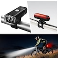 USB LED Şarj Edilebilir Bisiklet Işık Seti Ön Arka Far