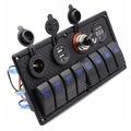 Bfy Switch Panel 8'li +Usb+Plastik Çakmaklık+ Çakmak+ Voltmetre