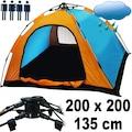 4 Kişilik Tam Otomatik Kurulum Kamp Çadırı 200 x 200 x 135 cm