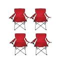 Ege 4 Adet Çantalı Kamp Sandalyesi Balıkçı Plaj Piknik Koltuğu