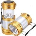 Solar Güneş Enerji Kamp Feneri Avcı Lambası Şarjlı USB'li Işıldak
