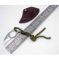 Mini cep için deri kılıflı kesici taşınabilir pençe bıçak