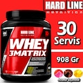 Hardline Whey 3 Matrix 908 Gr Protein Tozu 3 Aromalı SKT: 01/2022