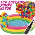 İntex Oyun Havuzu Şişme Taban 100Toplu+Pompa