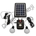 Portatif Solar Aydınlatma Sistemi (Aydınlatma+Telefon şarj)