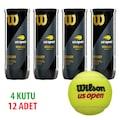 4 Kutu Wilson Us Open tenis Topu Vakum Ambalajda