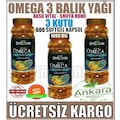 3 Adet Shiffa Home OMEGA 3 Balık Yağı 200 Kapsül - Aksu Vital