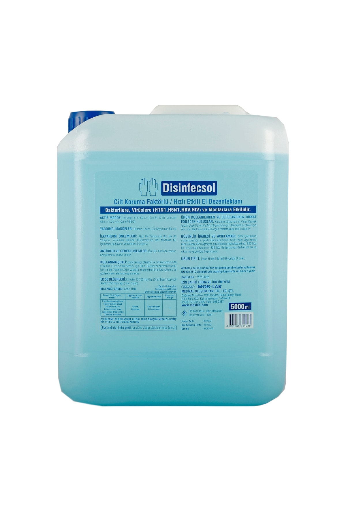 disinfecsol el dezenfektani 5 lt