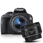 Canon EOS 100D 18-55mm DC III + 50 mm 1.8 IS STM Lens Kit