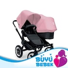 Bugaboo Donkey Duo Tente Ext 180311 Soft Pink
