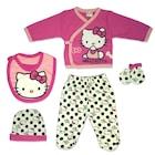 Hello Kitty Lisanslı Kız Bebek Fuşya Pembe 5li Hastane Çıkışı