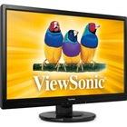 """VIEWSONIC 23.6"""" VA2445-LED 5Ms Analog+DVI-D Led Parlak Siyah"""