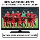 """Seg 24SE5100 24"""" 61 cm HD Uydu Alıcılı Led Tv"""
