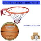 delta basketbol seti - basketbol topu - basketbol çemberi - file