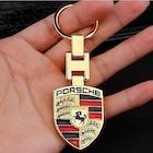 Porsche Anahtarlık Logo Amblem Sarı