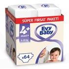 Evy Baby Bebek Bezi 4+ Beden Maxiplus Süper Fırsat Paketi 64 Ade