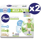 Sleepy Natural Külot Bez 5 Beden Junior 100 'lüX2 Paket 200 Adet
