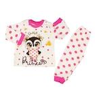 Süpermini Baykuş Princess Baskılı Kız Bebek Pijama Takımı