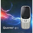 Quatro Q11 Çift Sim Kartlı Tuşlu Cep Telefonu Siyah