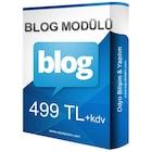 e-ticaret paketleri için blog modülü